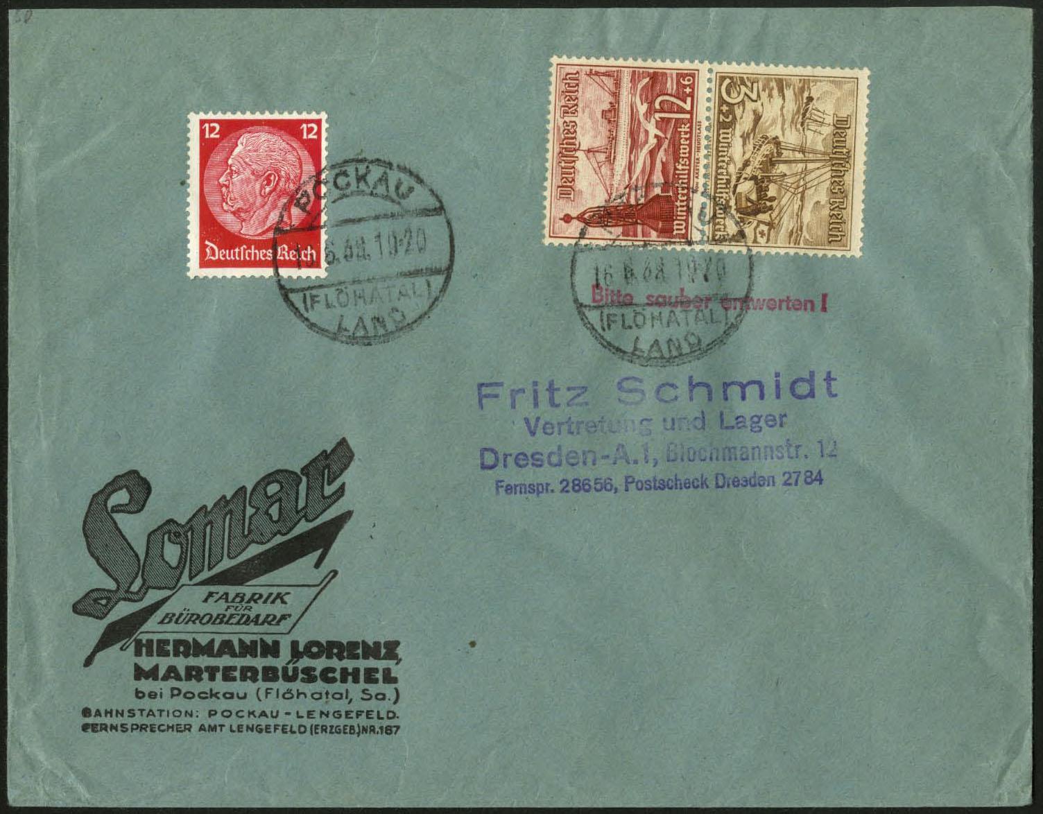 Dt Reich Mi Sk 31 Auf Geschäftsbrief Brief Bürobedarf