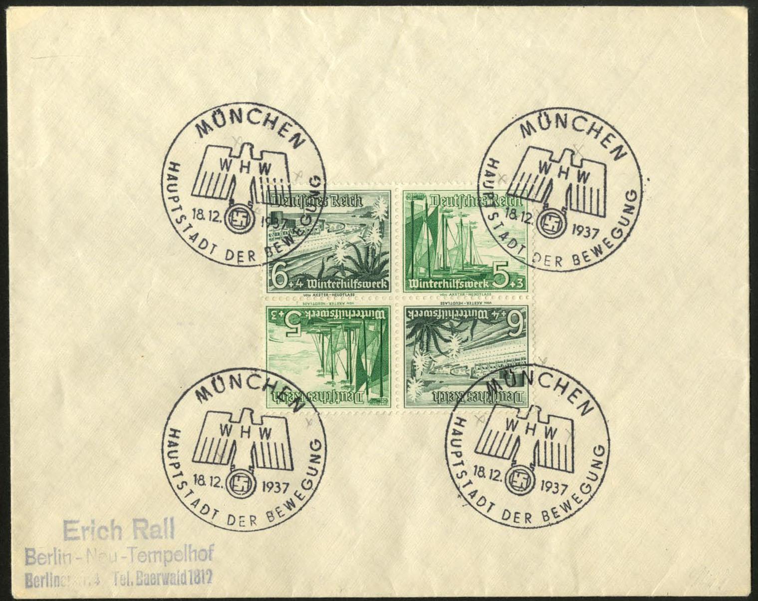 Briefmarken Dt.reich Brief Mit Massenfrankatur